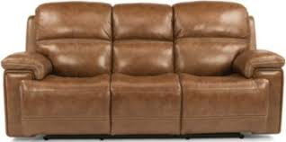 flexsteel fenwick leather power reclining sofa homemakers furniture