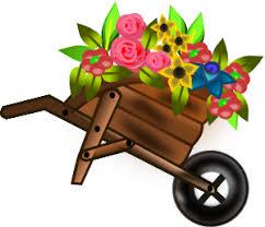 Flower Wheelbarrow Clip Art