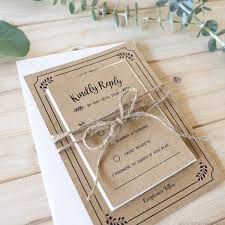 Printable Rustic Wedding Invitation Set Reception Only