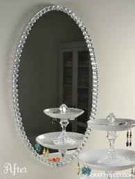 Mosaic Bathroom Mirror Diy by New Large Modern Round Wall Mounted Bevelled Glass Handmade Blue