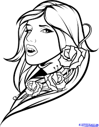 Vampire Girlvm Colouring Pages