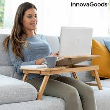beistelltisch aus bambus klappbar lapwood innovagoods