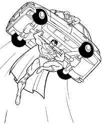 Superman Coloring Pages Title