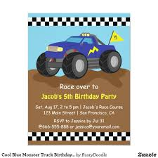 Cool Blue Monster Truck Birthday Party Card | Monster Truck Birthday ... Mr Vs 3rd Monster Truck Birthday Party Part Ii The Fun And Cake Monster Truck Food Labels Mrruck_party_invitions_mplatesjpg Unique Free Printable Grave Digger Invitations Gallery Marvelous Ideas At In A Box Cool Blue Card Truck Birthday Blaze The Machine Invitation On Design Of Jam Ticket Style Personalized 599 Sophisticated Photo Christmas Card