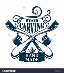 Wooden Hands Woodworking Logo Clipart
