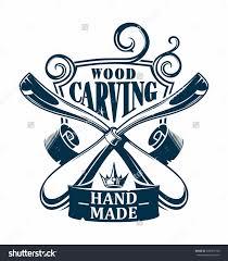 Wooden Hands Woodworking Logo Clipart