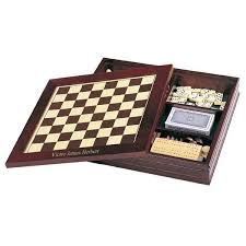 Personalized 7 In 1 Classic Wooden Game Set Chess Backgammon And More