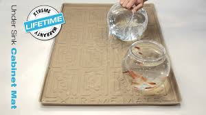 Under Sink Mat Drip Tray by Xtreme Mats 3 Gallon Water Test Youtube
