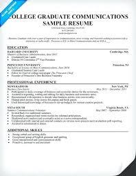 College Grad Resume Examples Example Best Graduate Resumes Of