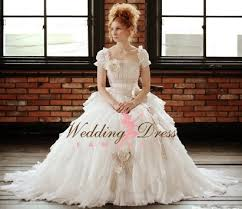 Romantic Rustic Wedding Dress With Sleeves
