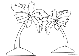 Palm Tree Coloring Bigbenches Kids Pages Ideas