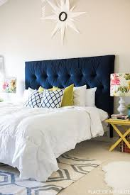 Velvet Super King Headboard by Tufted Headboard How To Make It Own Your Own Tutorial