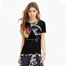 wholesale loose smooth girls thin cool t shirts 3d print all kinds