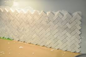 herringbone tile backsplash lowes