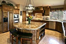 Traditional Kitchen With Granite Top Large Island Seating And Storage