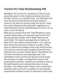 torrent for teds woodworking pdf