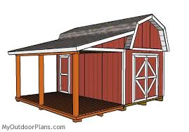 10x16 barn shed with porch plans free woodworking plans