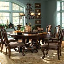 Round Dining Room Table With Leaf 6 Person Storage