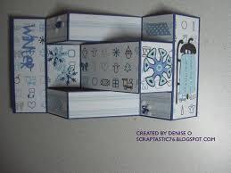 TLC 221 Christmas Tri Fold Shutter Card Open
