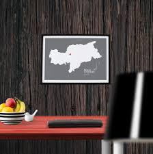 wanddeko modern wandbild personalisierte landkarte südtirol