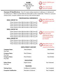 Combination Resume Format For 1 Page