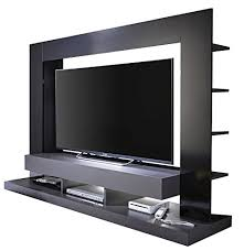 trendteam smart living wohnzimmer anbauwand wohnwand ttx05 170 x 124 x 46 cm in korpus grau front schwarz hochglanz mit viel stauraum