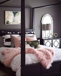 Pink Faux Mixed Prints And Chic Mirrored Accents Glam Up Your Bedroom Decor Care Of
