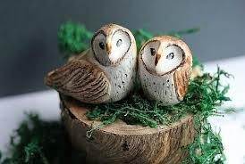 Rustic Barn Owl Cake Topper Owls