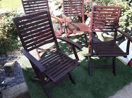 4 Hardwood Foldable Garden Chairs | In Reading, Berkshire | Gumtree