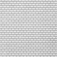 White Brick Tile Wall Seamless Background And Texture Stock Photo