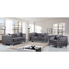 gray velvet sofa plush velvet sofa velvet tufted sofa milan