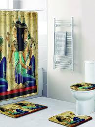 ägyptische papyrus duschvorhangmatten ethnisches altes ägypten symbol wandbild badezimmer vorhänge