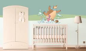 stickers décoration chambre bébé chambre bébé masha et michka leostickers