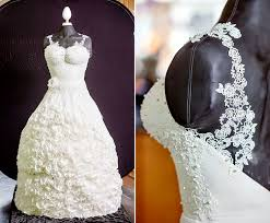 Stunning Wedding Dress Cake is 165 Pounds and Edible
