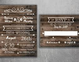 Country Wedding Invitations Rustic Invitation Burlap Kraft Wood Affordable