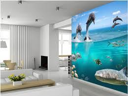 chambre dauphin personnaliser pour les enfants de papier peint dolpins aire de