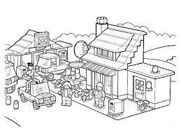 Sheets Lego City Coloring Pages 85 For Free Colouring With