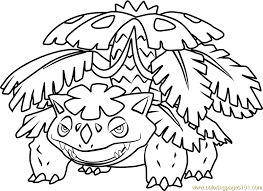 Book Coloring Pokemon Pages Venusaur In Mega Page