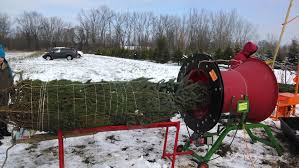 Christmas Tree Baler For Sale by Anthonys Christmas Trees Lockport Ny