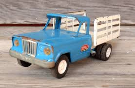 VINTAGE TONKA JEEP Blue White Stake Bed Farm Dump Truck - $13.50 ...