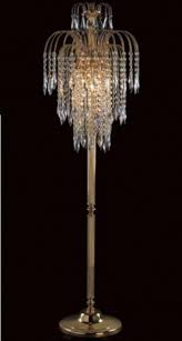 Elegant Floor Lamp Crystal Chandelier Fancy Spider Lamps Restoration Hardware Large Version