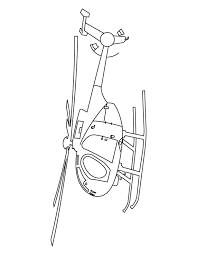 Army Helicopter Coloring Page
