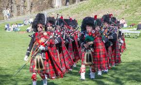 Rochester Scottish Pipes And Drums With The Hudson River In Background During 34th Annual Military Tattoo At West Point On April 17 2016