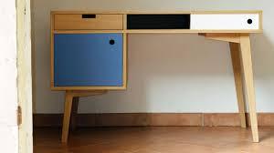 bureau stylé bureau style scandinave en chêne conteneur havre