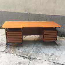 Vintage Italian Desk in Wood & Metal for sale at Pamono