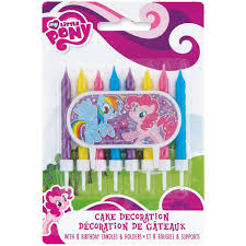 My Little Pony Cake Topper and Birthday Candle Set Walmart
