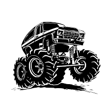 100 Monster Truck Decals Creative Vinyl Adhesive Art Wallpaper Large Size Funny