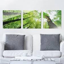 glasbild mehrteilig bäume des lebens 3 teilig glasbilder