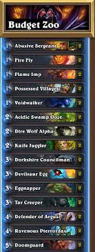warlock hearthstone deck frozen throne zoo hearthstone budget deck is back guardian s