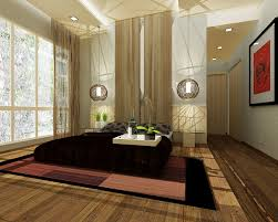 Minimalist Wood Zen Bedroom Decor Ideas With Natural Curtain Pattern Rattan Artwork